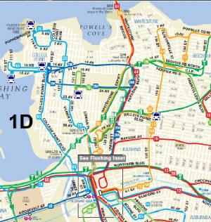 Q Bus Francis Lewis Boulevard - Queens bus map