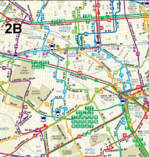 QM Bus Forest Hills Lefrak City Downtown - Queens bus map