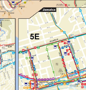 Q Bus Route Nd St - Queens bus map