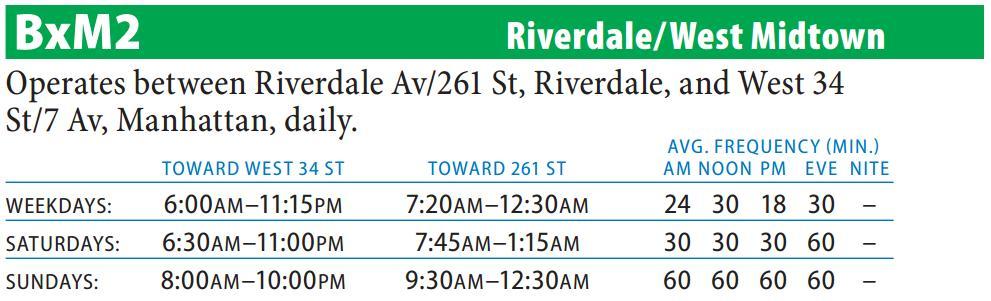 Bxm2 Riverdale West Midtown Via 7 Av